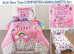 5pc Jojo Siwa Dream Crazy Big Comforter Sheets Pillow
