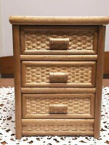 Mini Cassettiera In Legno.Dettagli Su Mini Cassettiera In Legno Porta Oggetti Vintage