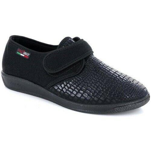 Gaviga Falco 909 Con Negro Elástica Rasgar Mujer Pantuflas De Invierno Zapatillas De Andar Por Casa Ropa, Calzado Y Complementos