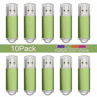 10Pack USB 2.0 Flash Drives 1GB//2GB//4GB//8GB//16GB Memory Sticks Lighter Model
