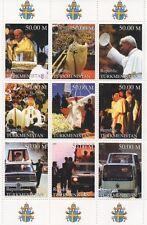 POPE JOHN PAUL II CATHOLIC RELIGION PAPAL IMAGES 1999 MNH STAMP SHEETLET