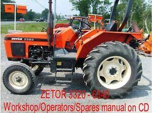 zetor 3320 6340 workshop operators spares manuals on cd ebay rh ebay ie zetor 3320 shop manual zetor 3320 owners manual