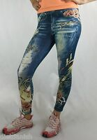 Bejeweled Leggings Jeggings Susan Fixel Los Angeles Rocks Size M