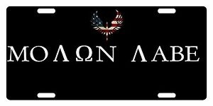 Molon-Labe-Personalizzato-Targa-USA-Ali-Versione-Tattico-Emblema