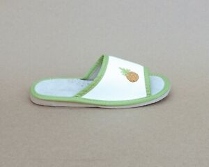 Kids Girls Boys Real Leather Slippers Sandals Home Shoes Kapcie Pineapple
