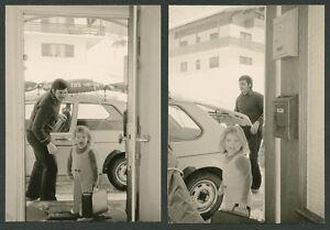 Orig. Agfa Foto detrazioni da AUTO VOLKSWAGEN VW GOLF I ski sport invernali COLLETORI 1975
