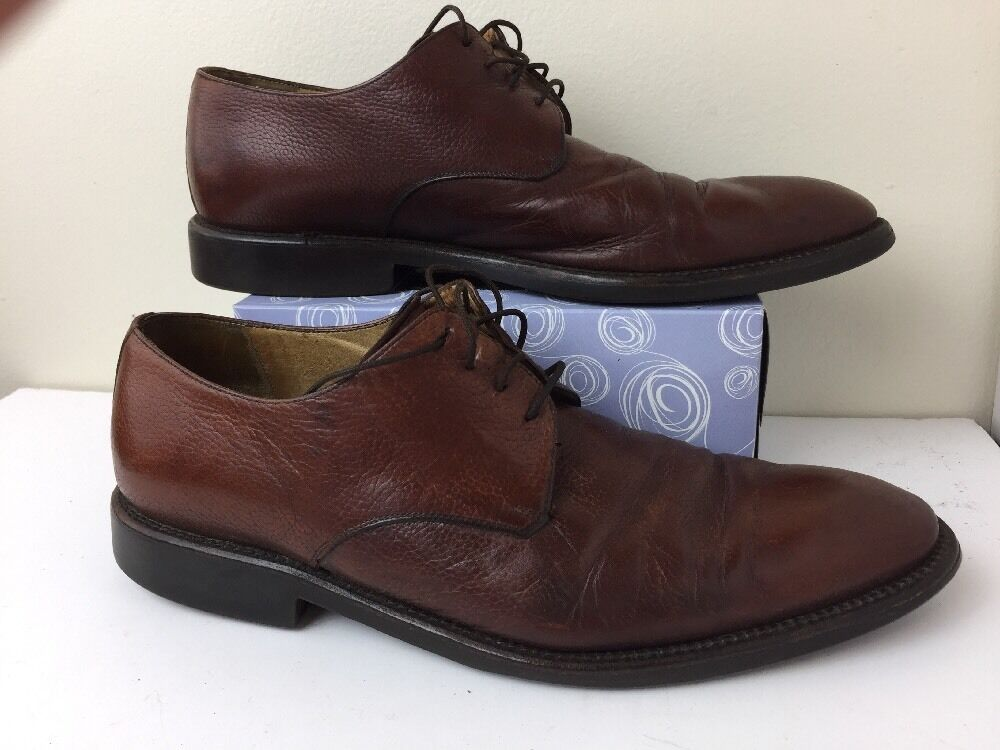 Johnston Murphy Oxford Mens shoes Size 11M C2035 Italian Brown Leather Lace