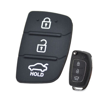 Replacement Rubber Pad Remote Key Shell For Hyundai Creta I20 I40