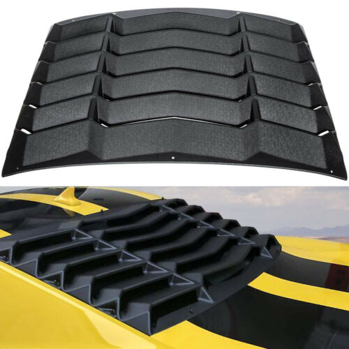 Rear Window Louver Hood Scoop Vent Cover Sun Shade For 2010-2015 Chevy Camaro #B