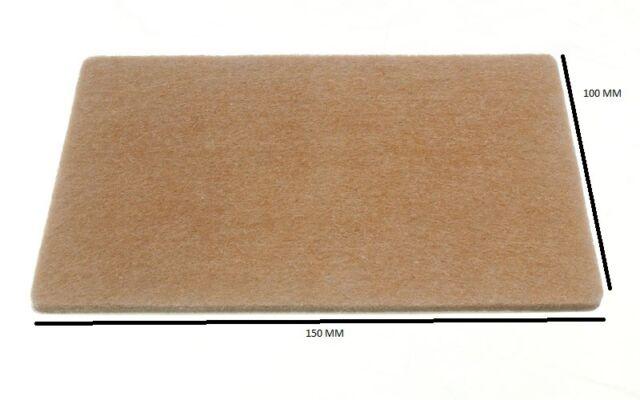 Rectangular Felt Pads Self Adhesive 150mm X 100mm X 4mm Pack Of 6