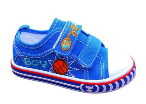 KIDS Boys Toddler canvas shoes trainers size 8-12 UK NEW Pumps CHILDREN
