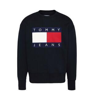 Tommy-Hilfiger-TJM-Tommy-Flag-Crew-Felpa-Uomo-DM0DM07201-BBU-Tommy-Black