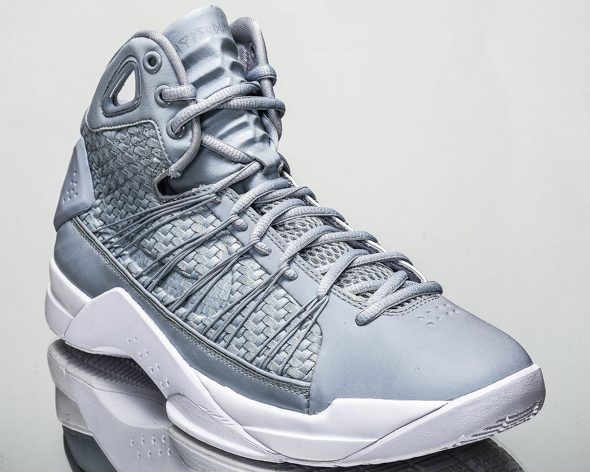 NIKE - 818137-002 - HYPERDUNK LUX - Gray Men's Shoes - Wolf Gray - / White - Size 9 0e7bbb