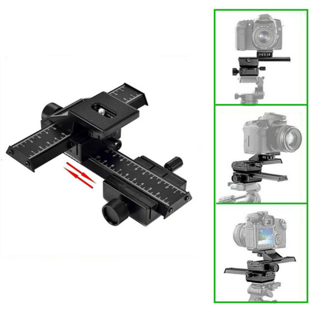 4 Way Macro Shot Focusing Focus Rail Metal Slider for Nikon Peantax DSLR CamerB9