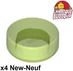 10x Tile Round plaque rond lisse 1x1 jaune trans yellow 98138 NEUF Lego