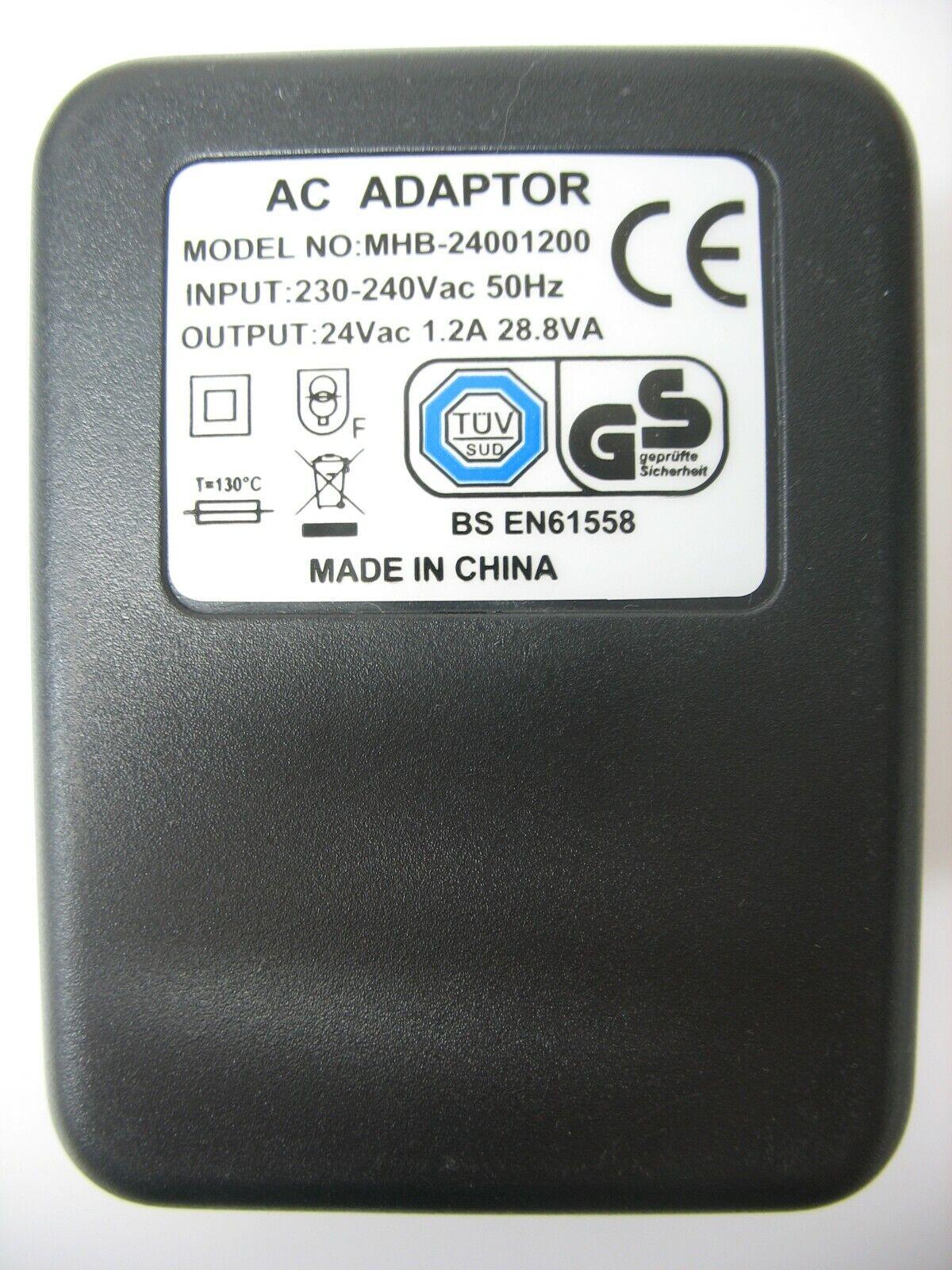 1200ma 24v Socket AC-AC (AC Output) Power Adaptor/Supply/Charger 1.2a 28.8va