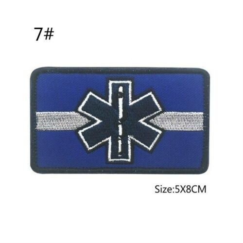 Star of Life Emergency Medical Rescue Embroidery Hook Patches Military Patch