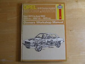 opel ascona manta 1975 1982 haynes service workshop repair rh ebay co uk Yamaha Service Manuals PDF Downloadable Online Chevrolet Repair Manuals
