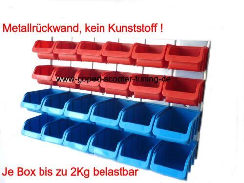 Schraubenregal Kleinteileregal Wandregal Sichtlagerboxen Kleinteilemagazin