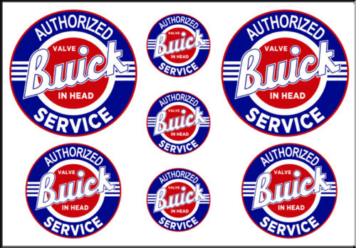 1 1//2 3//4 INCH BUICK SERVICE DECALS STICKERS