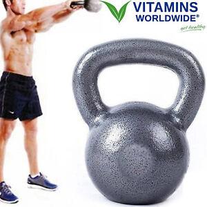 KETTLEBELL-WEIGHT-50-LBS-Cast-Iron-Strength-Training-Fitness-Dumbbell-Exercise