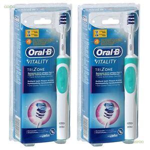 Oral-b-Vitality-Trizone-Elettrico-Ricaricabile-Spazzolino-Fascio-2-Pack-Nuovo