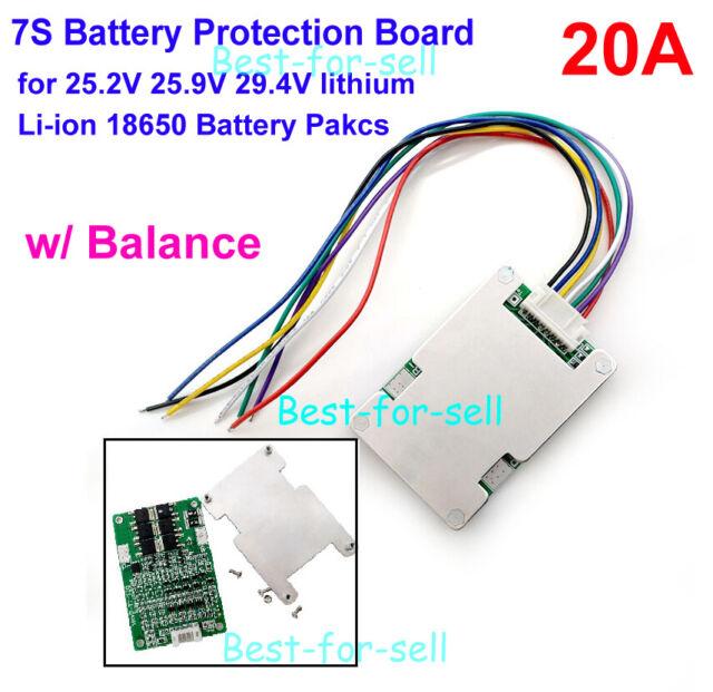 7S 24V 28V 50A BMS PCB PCM for Ebike Electric Bicycle 18650 Li-ion LIPO Battery