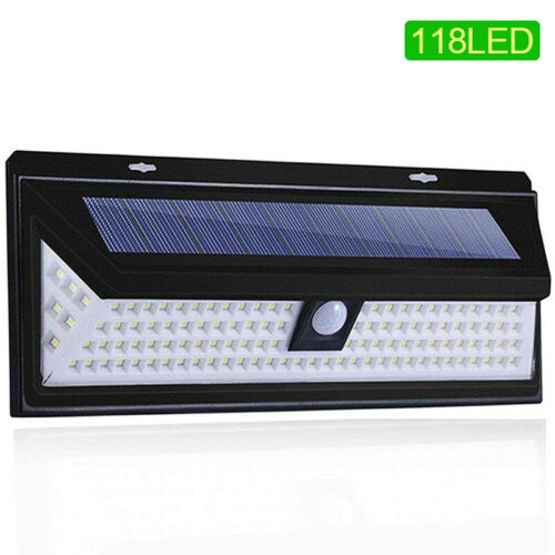 Goodland 118 LED Solare Luce Esterno Lampada Solare Alimentato Luce Solare PIR Motion
