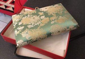 Afficher Main Titre Détails Chirimensoie A Silk Sac Le Crêpe Brocade Sur Japanese TissuKimono D'origine iPXZukOT