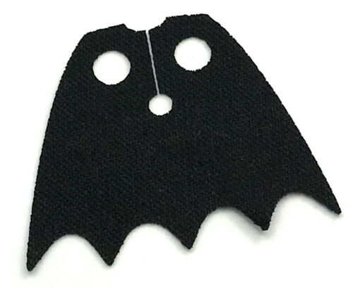 LEGO NEW BLACK SHORT MINIFIGURE CLOTH CAPE WITH 5 POINTS PIECE