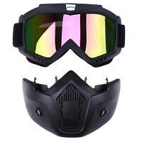 Cruiser Quad Bike Average Size Goggles Removable Mask Glasses Junior Adult Mtb