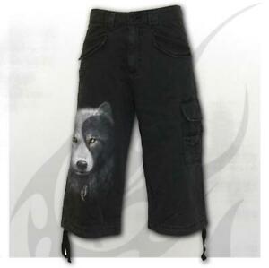 Spiral-Direct-Wolf-Chi-Mens-Vintage-3-4-Cargo-Shorts