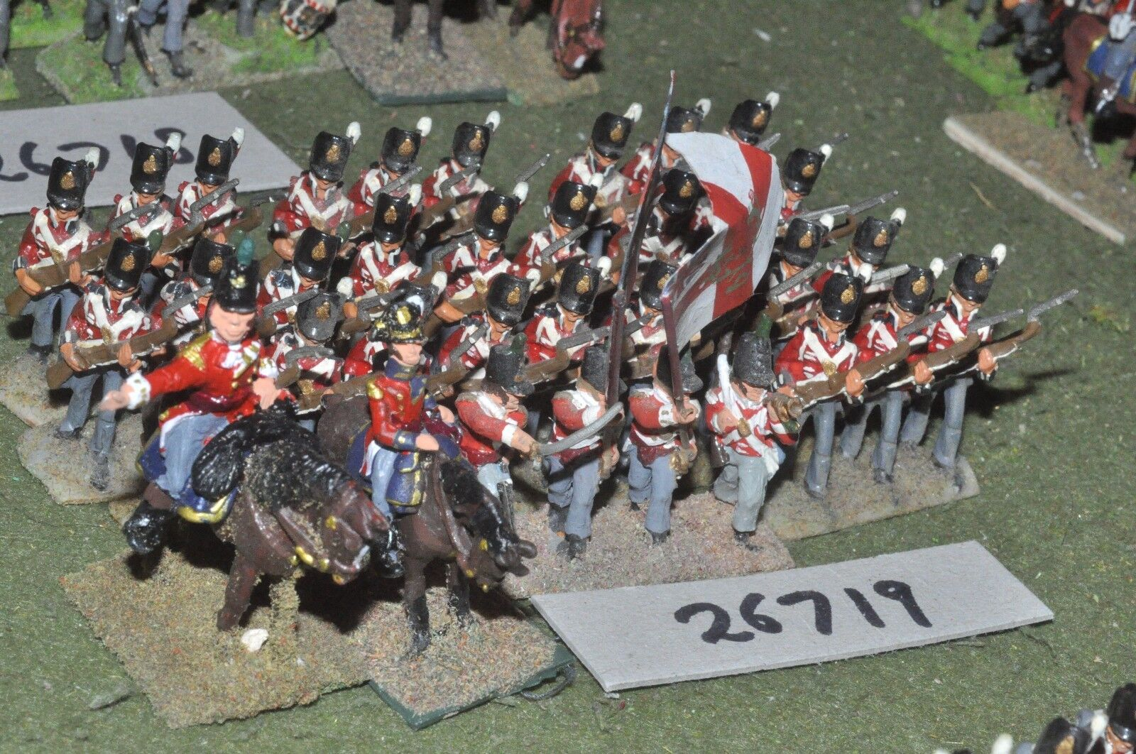 25mm napoleonic   british - line 36 figures - inf (26719)