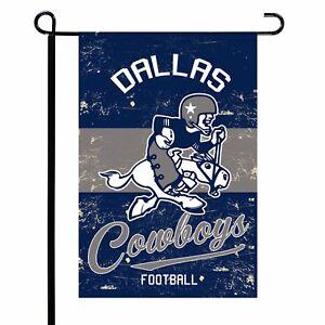 Dallas-Cowboys-12-5-034-x-18-034-Vintage-Linen-Garden-Flag