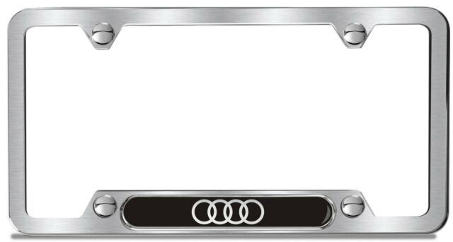 ZAWHXZ Audi License Plate Frame Brushed Stainless OEM EBay - Audi license plate frame