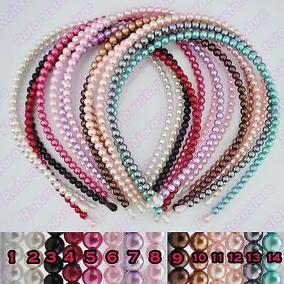 Pearl Headband - Beautiful Womens Girls Alice Hair Head Band Accessories - NEW