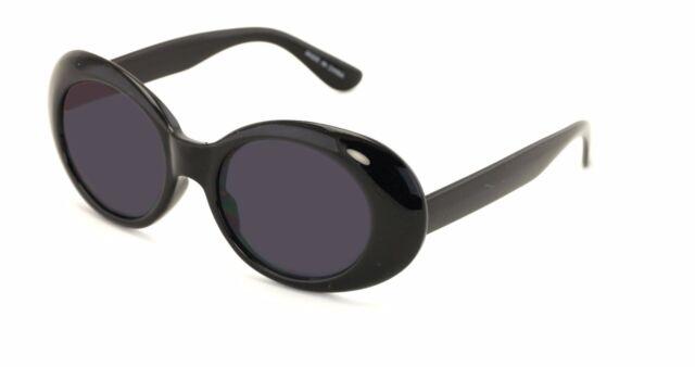 6da6233d7a6 Bold Retro Oval Mod Thick Frame Sunglasses Clout Goggles with Round Lens  UV400 b