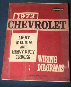 1973 chevrolet motor division light, medium & heavy duty trucks wiring  diagrams   ebay  ebay