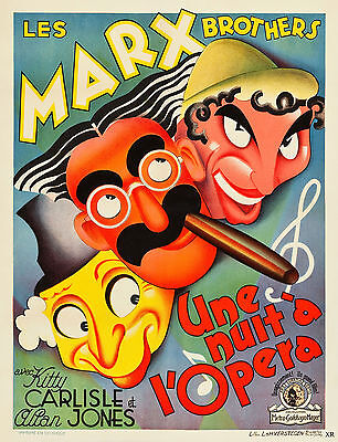 """""""A NIGHT AT THE OPERA"""" The Marx Brothers.Vintage Movie Poster A1A2A3A4Size"""