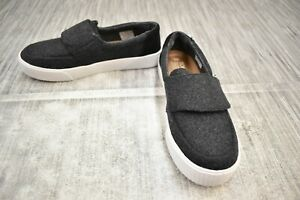 TOMS-Altair-Casual-Comfort-Slip-On-Shoes-Women-039-s-Size-6-Black-Felt-Suede-NEW