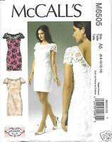 M6505 Misses Lined Lace Overlay Dresses Sizes 6-14 Mccalls Pattern 6505