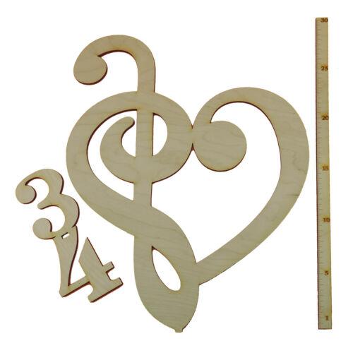 Bassschlüssel /& clé sur 3//4 Tact debout 30 cm Cadeau Musique