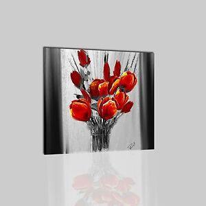 Quadri moderni astratti dipinti a mano olio su tela grigio for Quadri moderni fiori dipinti a mano