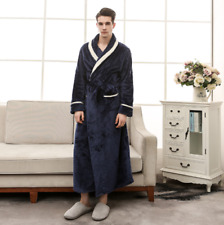 item 1 Men s Women s Warm Cosy Winter Dressing Gown Flannel Long Bath Robe  Bathrobe NEW -Men s Women s Warm Cosy Winter Dressing Gown Flannel Long  Bath Robe ... 547768c20