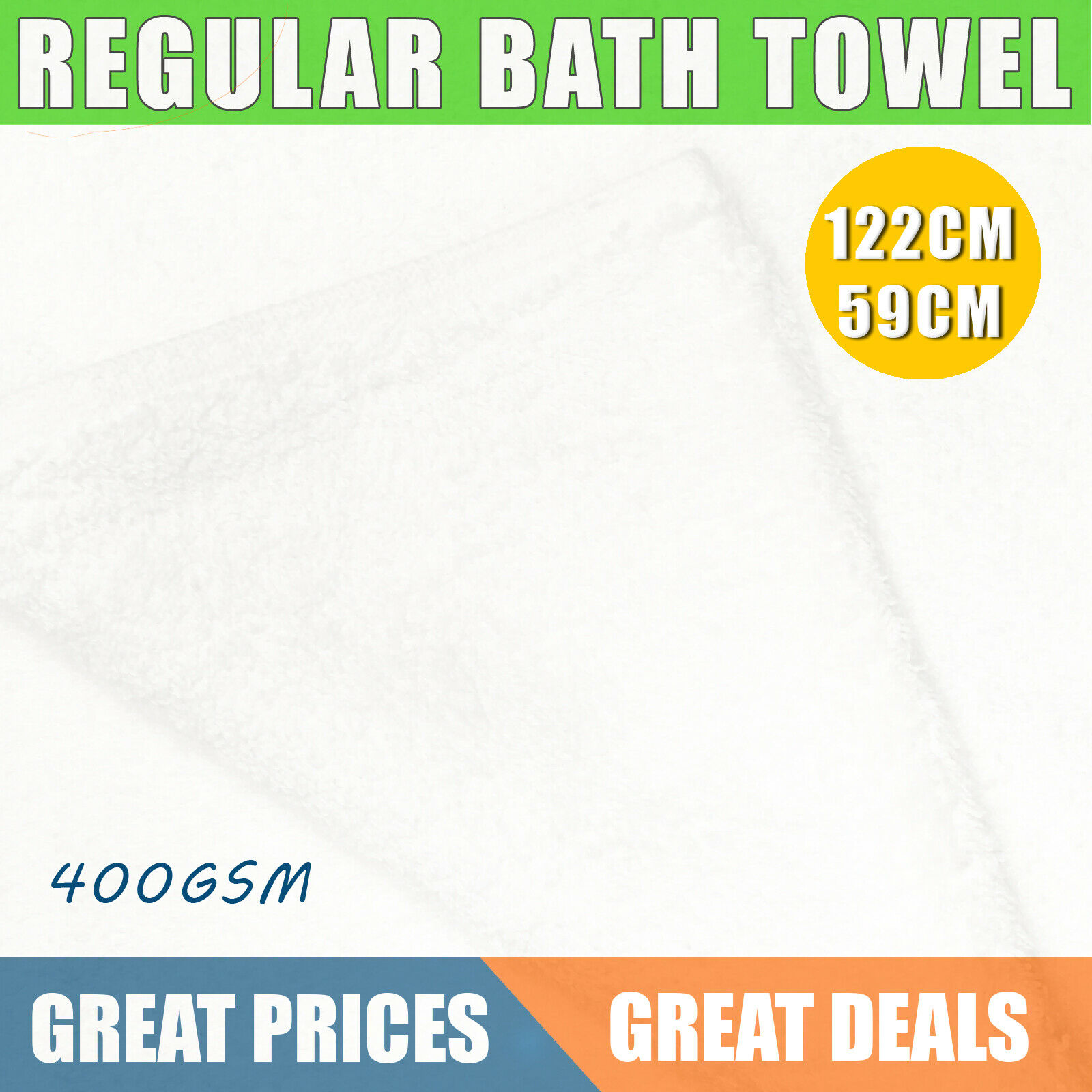 X3 Regular Bath Towel 122cm x 59cm quick dry, Long Enough To Wrap Around