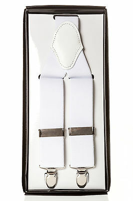 MENS BRACES WHITE M L XL XXL FOR MEN MENS DINNER TUXEDO IDEAL CHRISTMAS PRESENT