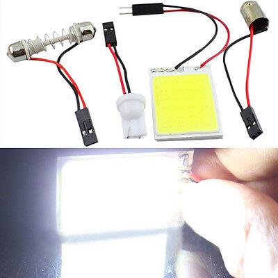 Popular COB LED 24 LED SMD Car Interior Panel Light T10 Festoon Dome Adapter Set