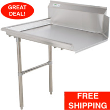 Commercial Stainless Steel Left Side Clean 24 Dish Washer Table 2 Dishwashing
