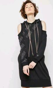 Hoodie Shoulder Nwt Cold Dress En Sweatshirt Size Puma Pointe xqOqXwaf