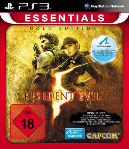 1 von 1 - Resident Evil 5 - Essentials Gold Edition - USK 18 / PS3 - NEU & OVP